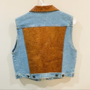 Vintage Colorado Crafted tooled Jean Vest 😍
